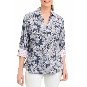 Foxcroft Taylor in Summer Floral Blouse sz 4p
